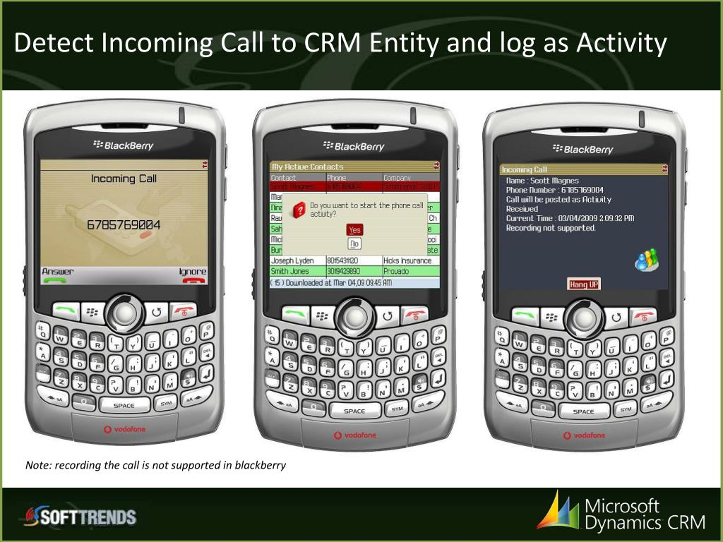 Detect Incoming Call to CRM Entity and log as Activity