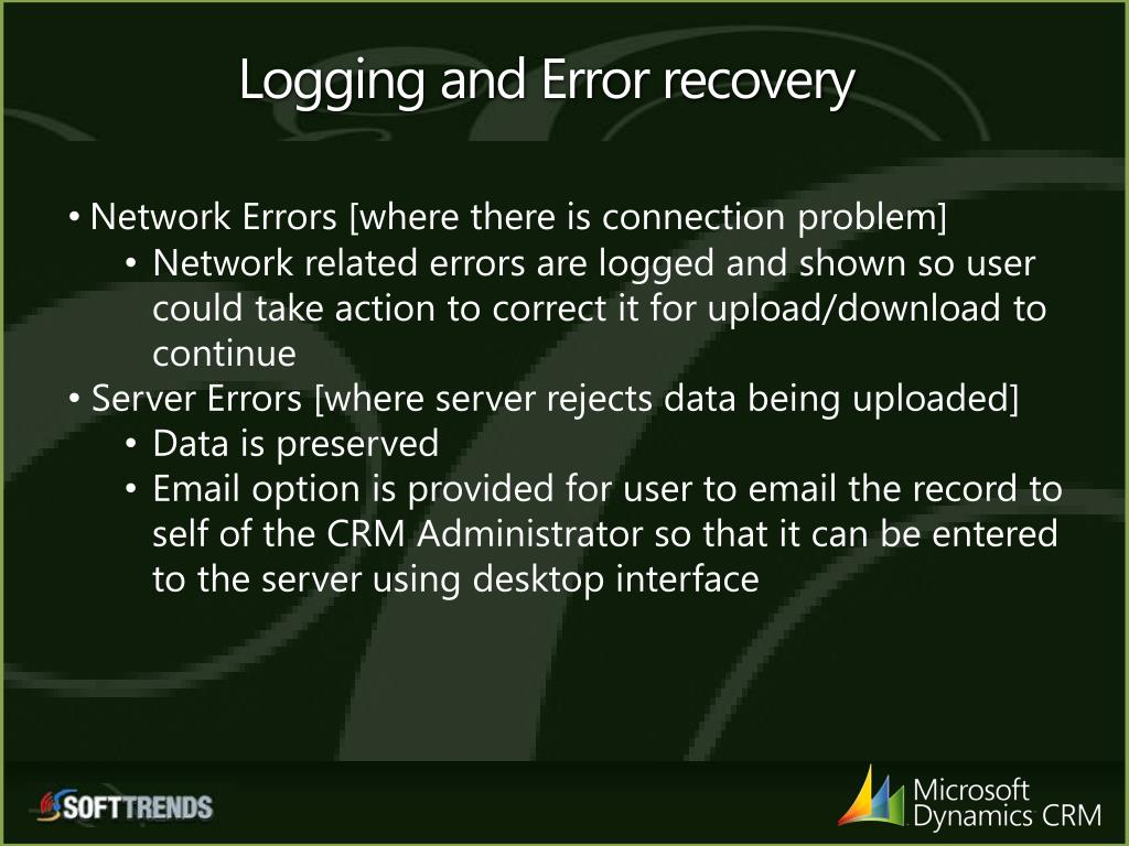 Logging and Error recovery