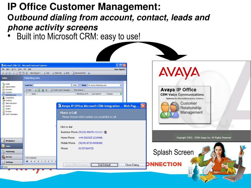 IP Office Customer Management: