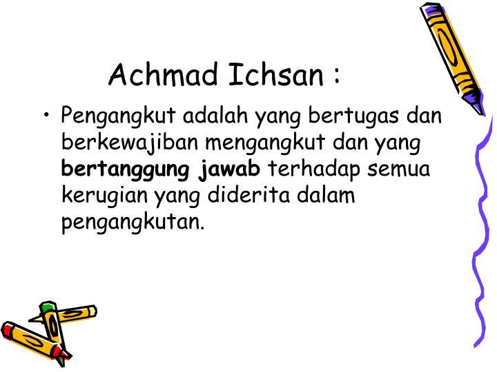Achmad Ichsan :