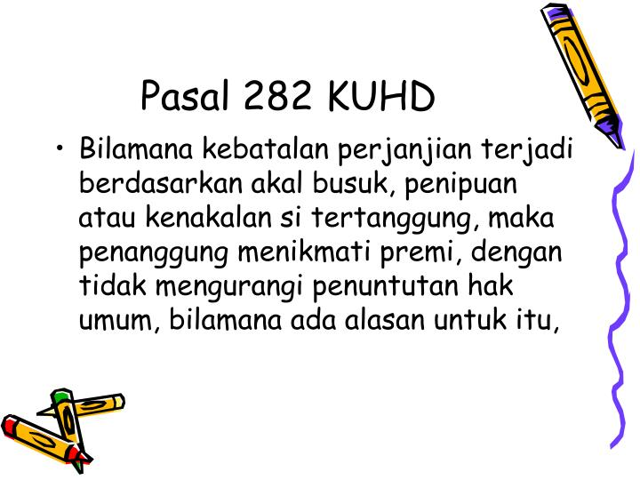 Pasal 282 KUHD