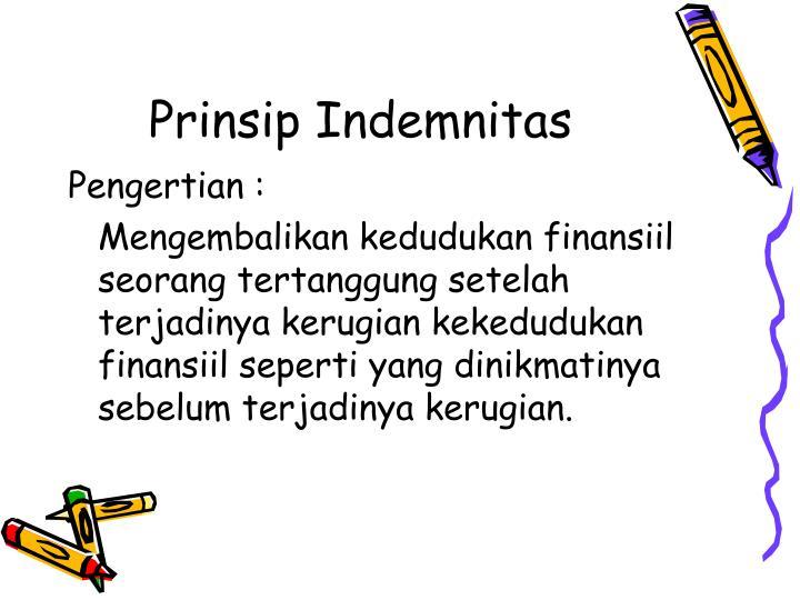 Prinsip Indemnitas
