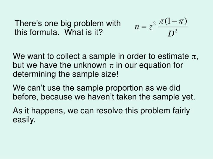 There's one big problem with this formula.  What is it?