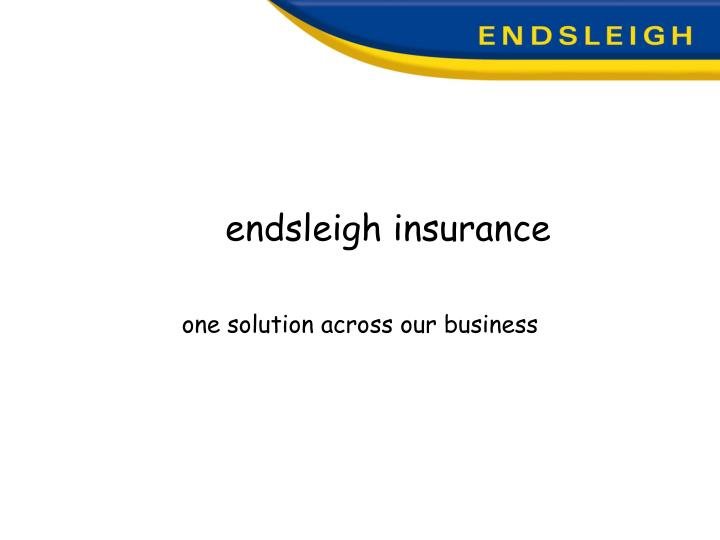 Endsleigh insurance