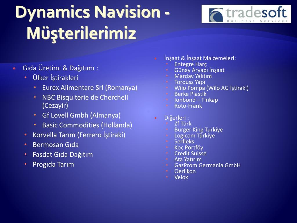 Dynamics Navision -  Müşterilerimiz