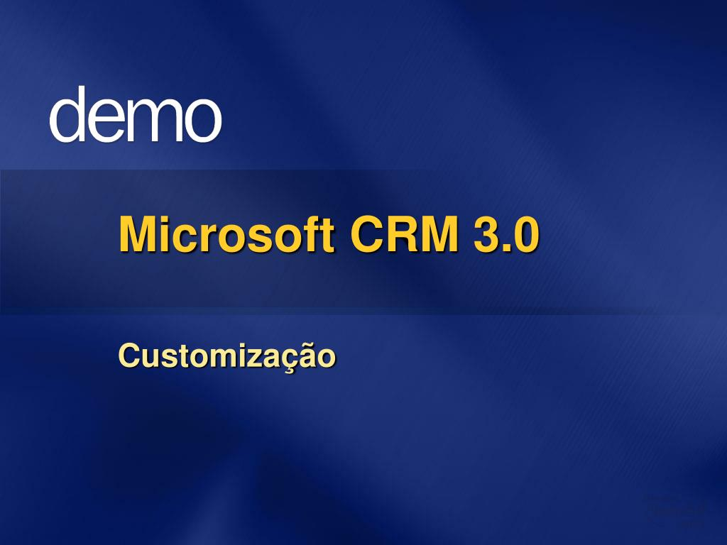 Microsoft CRM 3.0