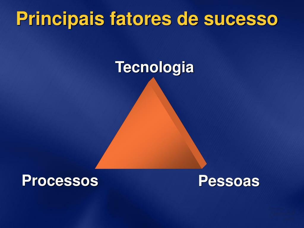 Principais fatores de sucesso