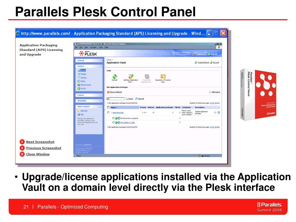 Parallels Plesk Control Panel