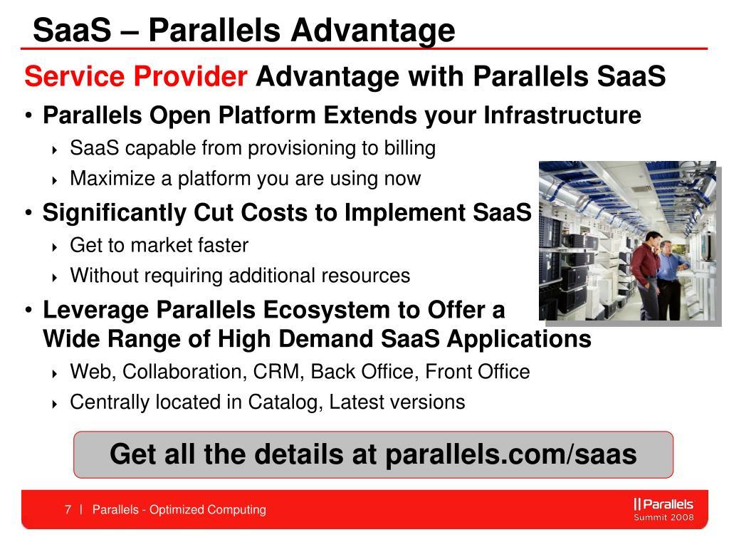 SaaS – Parallels Advantage