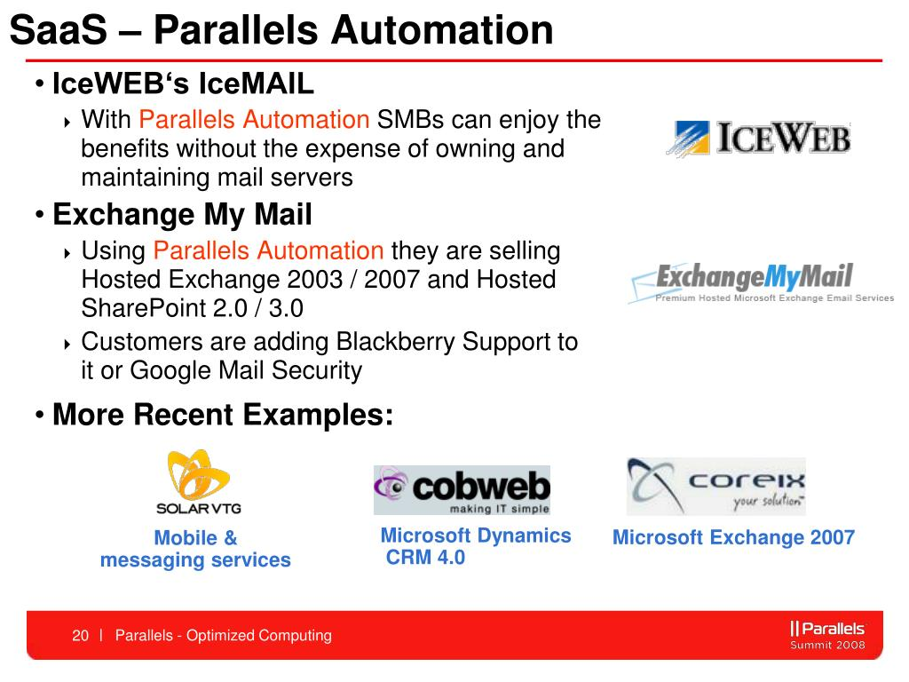 SaaS – Parallels Automation