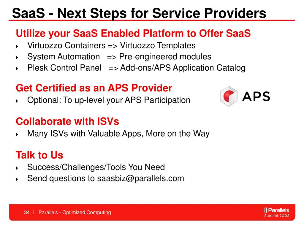SaaS - Next Steps for Service Providers
