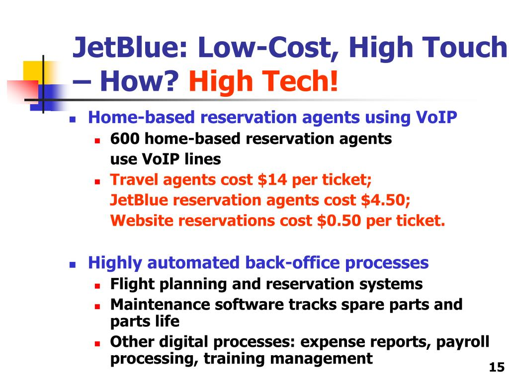 JetBlue: Low-Cost, High Touch