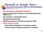 microsoft is already there microsoft dynamics erp crm solutions