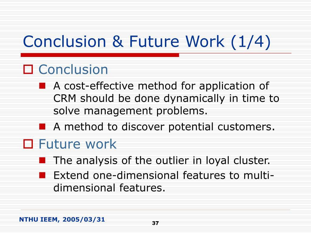 Conclusion & Future Work (1/4)