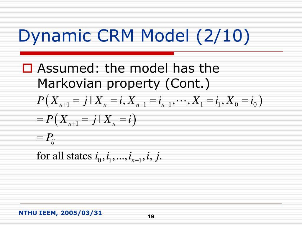 Dynamic CRM Model (2/10)
