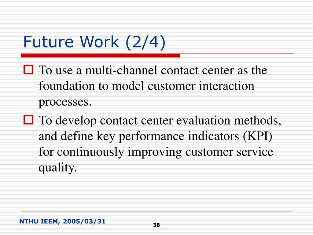 Future Work (2/4)