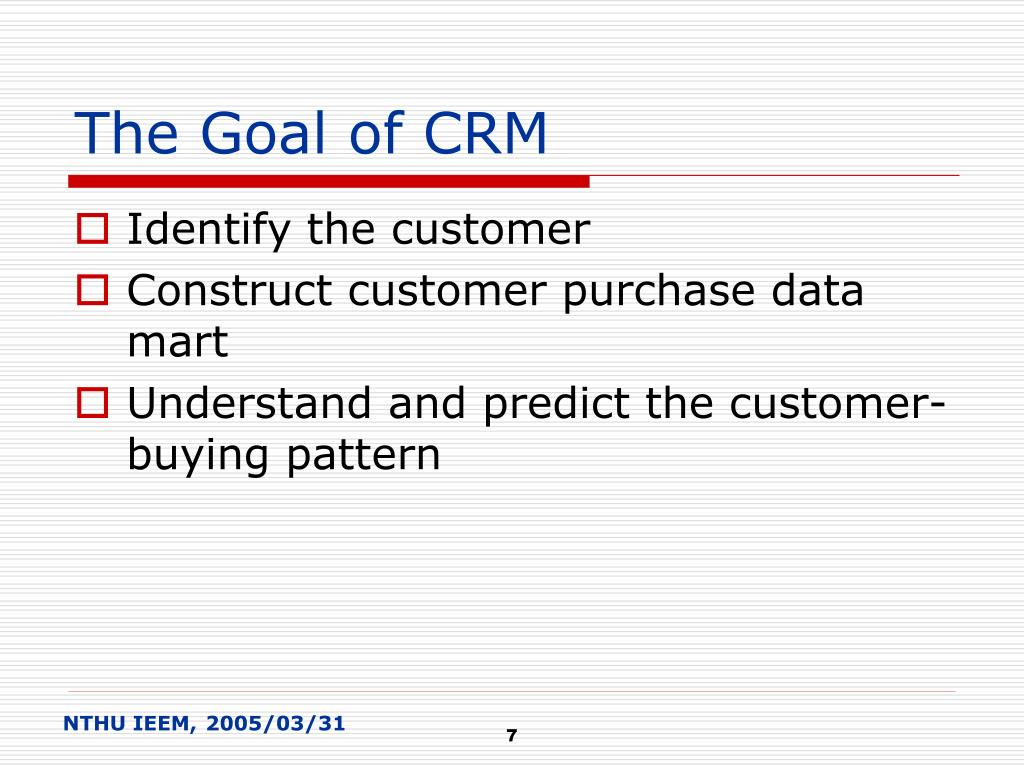The Goal of CRM