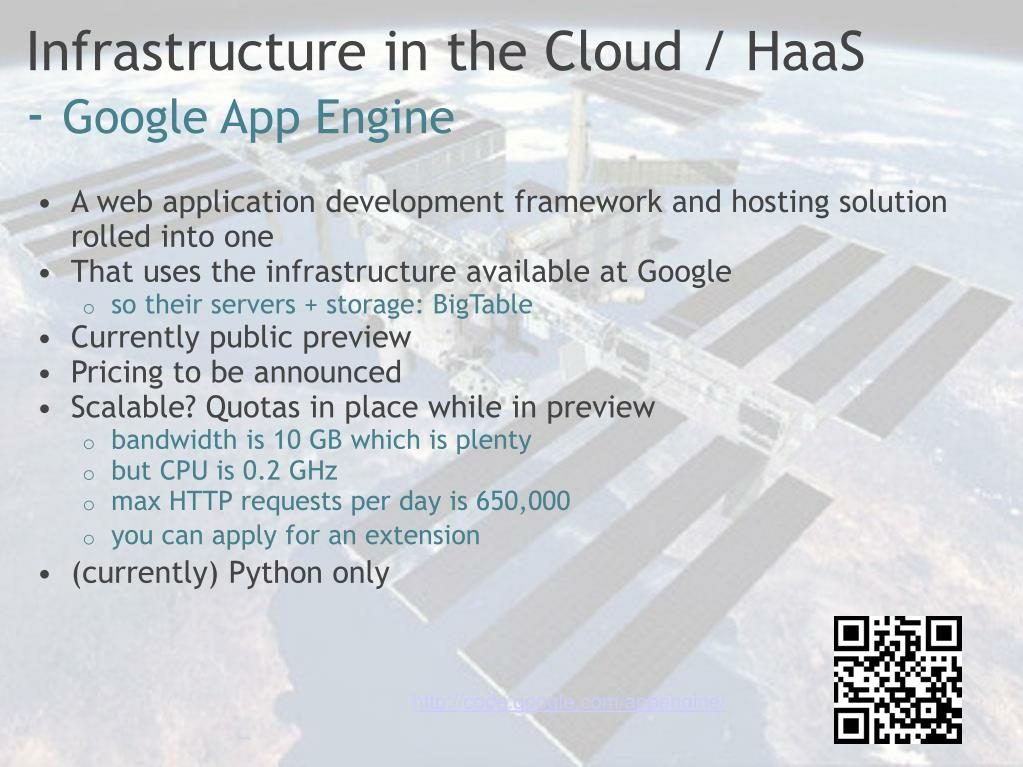 Infrastructure in the Cloud / HaaS