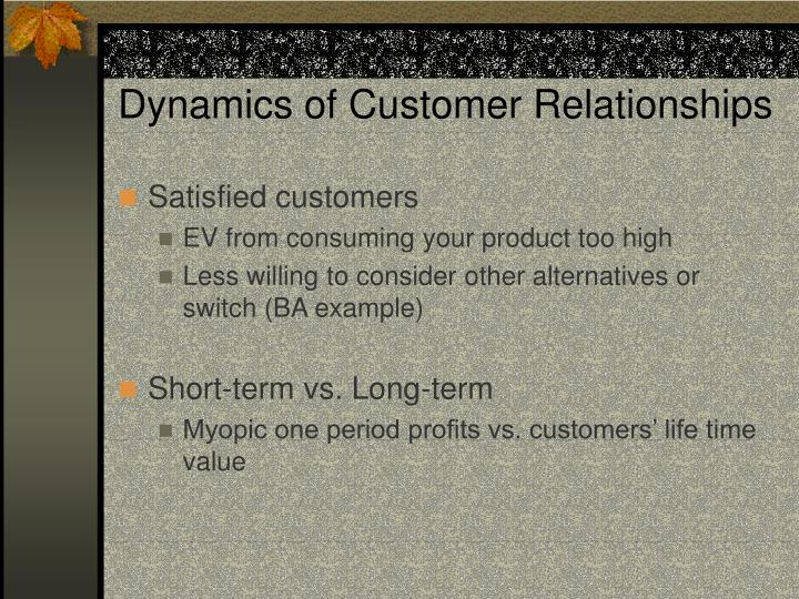 Dynamics of customer relationships l.jpg
