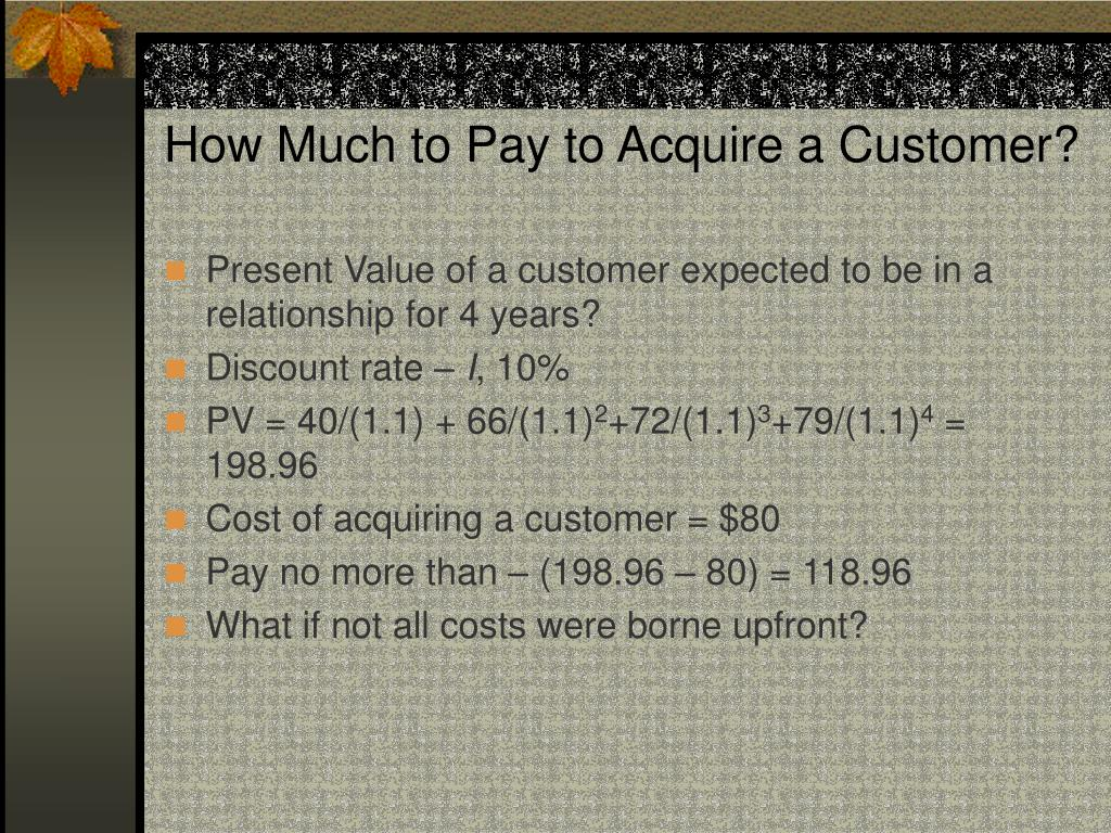How Much to Pay to Acquire a Customer?