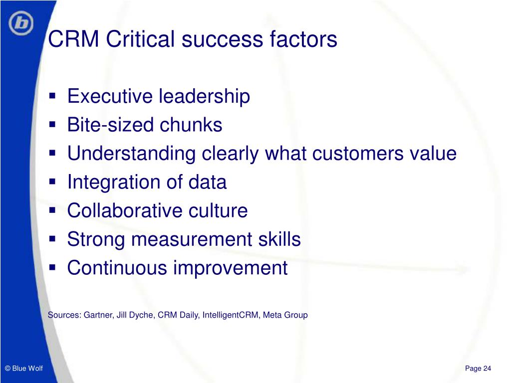 CRM Critical success factors
