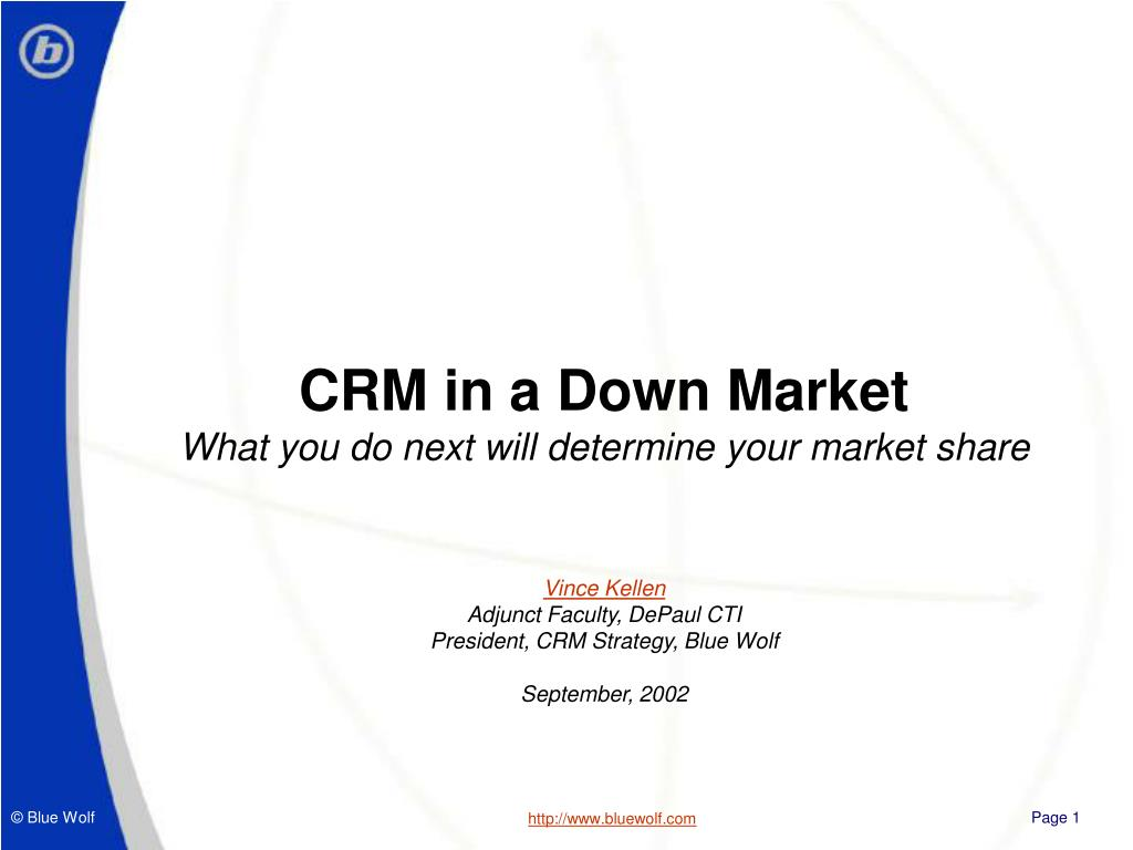 CRM in a Down Market
