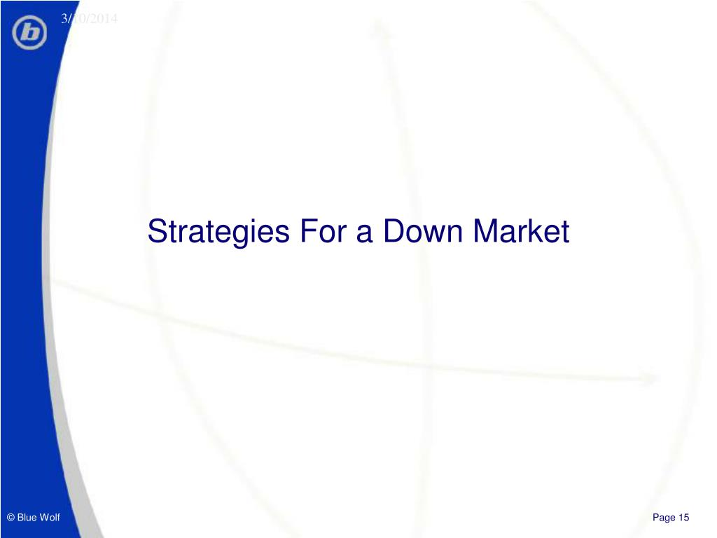 Strategies For a Down Market
