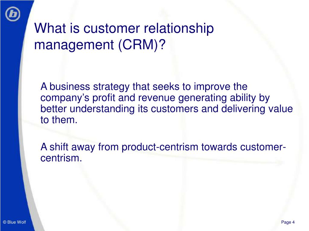 What is customer relationship