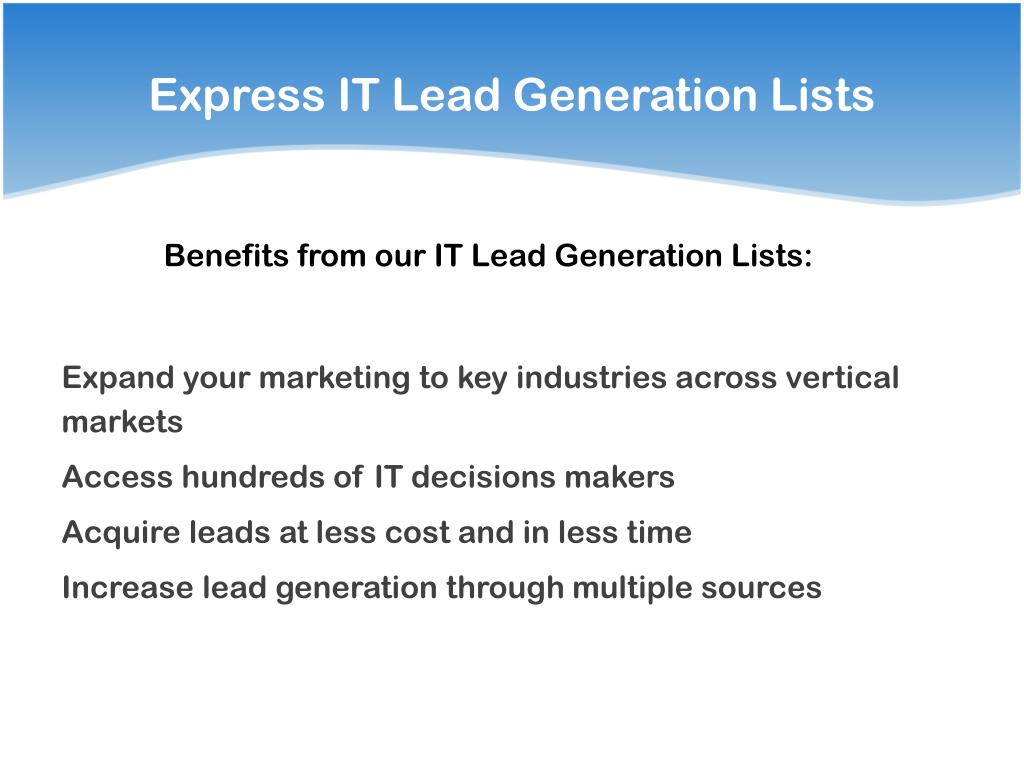 Express IT Lead Generation Lists
