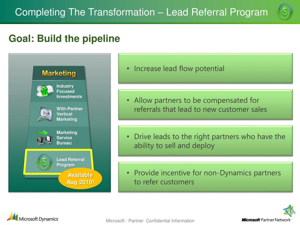 Completing The Transformation – Lead Referral Program