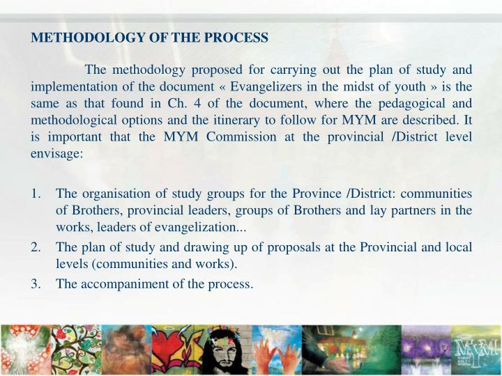 METHODOLOGY OF THE PROCESS