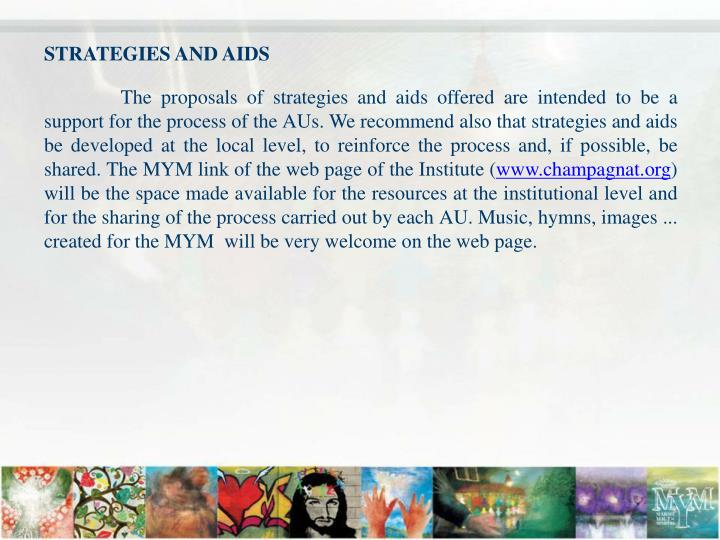 STRATEGIES AND AIDS