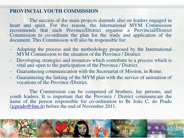 PROVINCIAL YOUTH COMMISSION