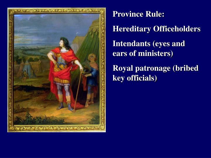 Province Rule: