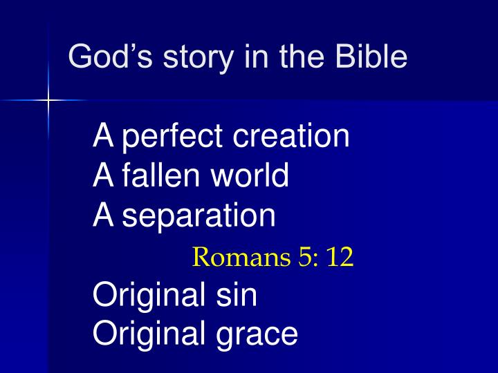 God's story in the Bible