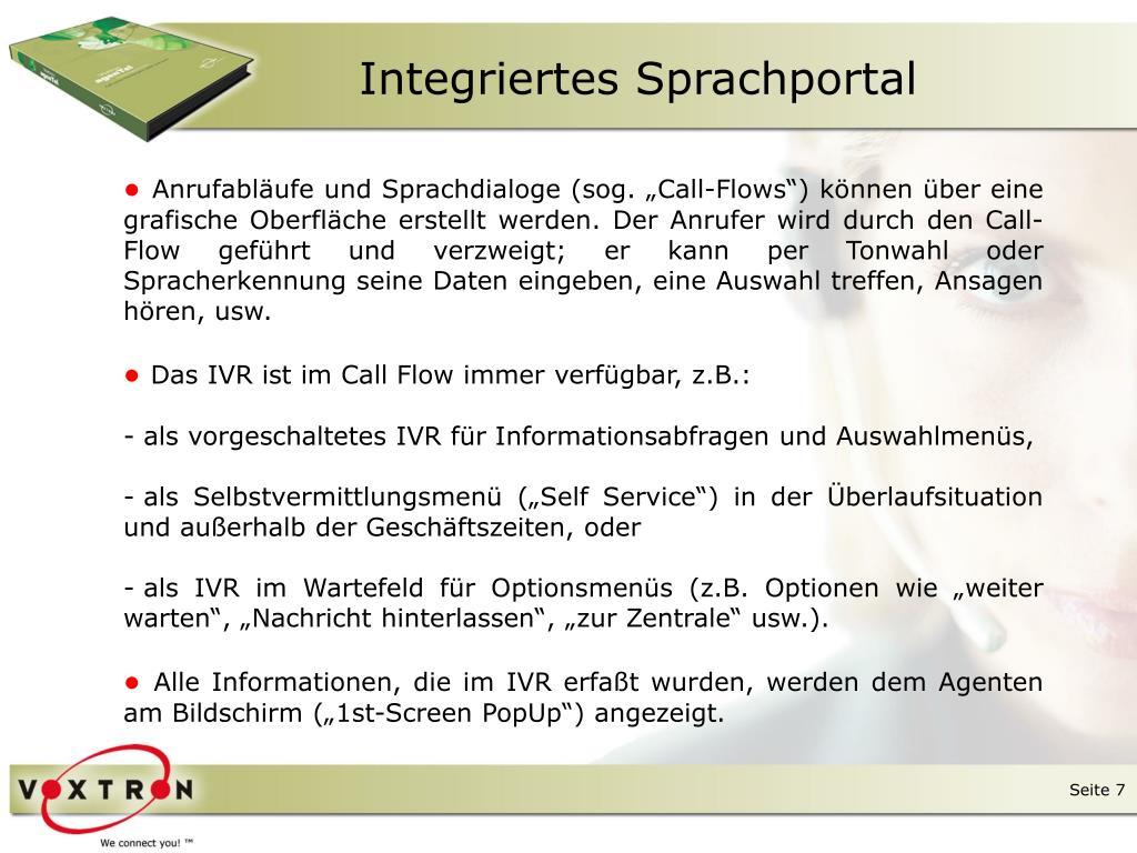 Integriertes Sprachportal