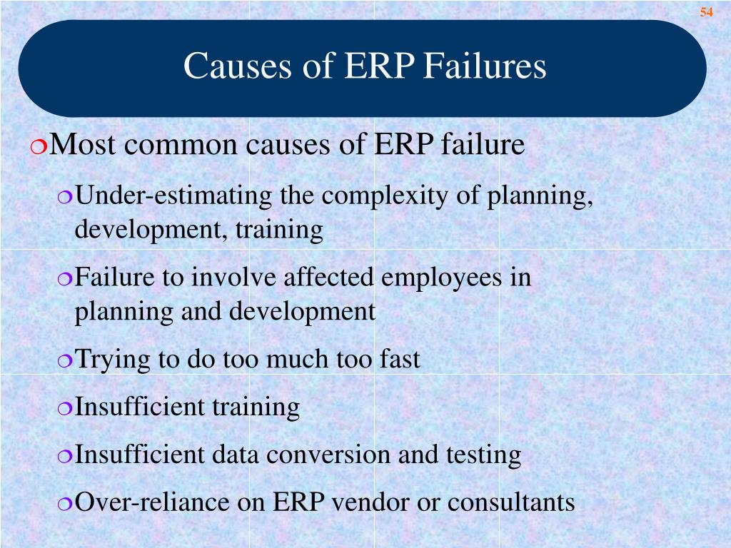 Causes of ERP Failures
