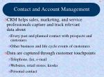 contact and account management