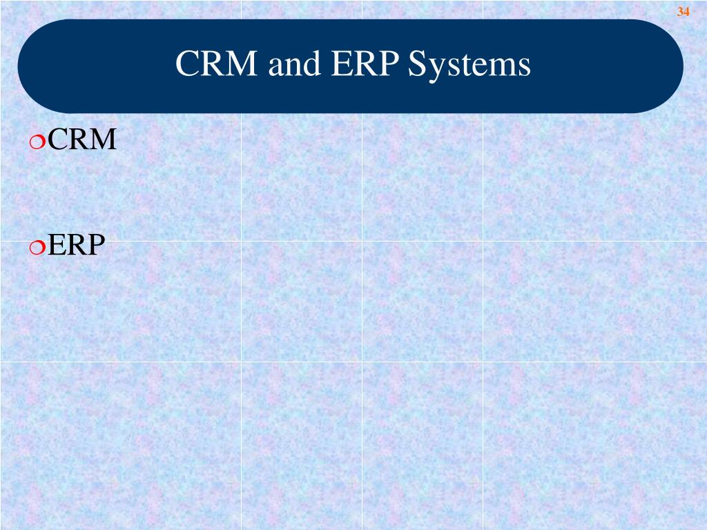 CRM and ERP Systems