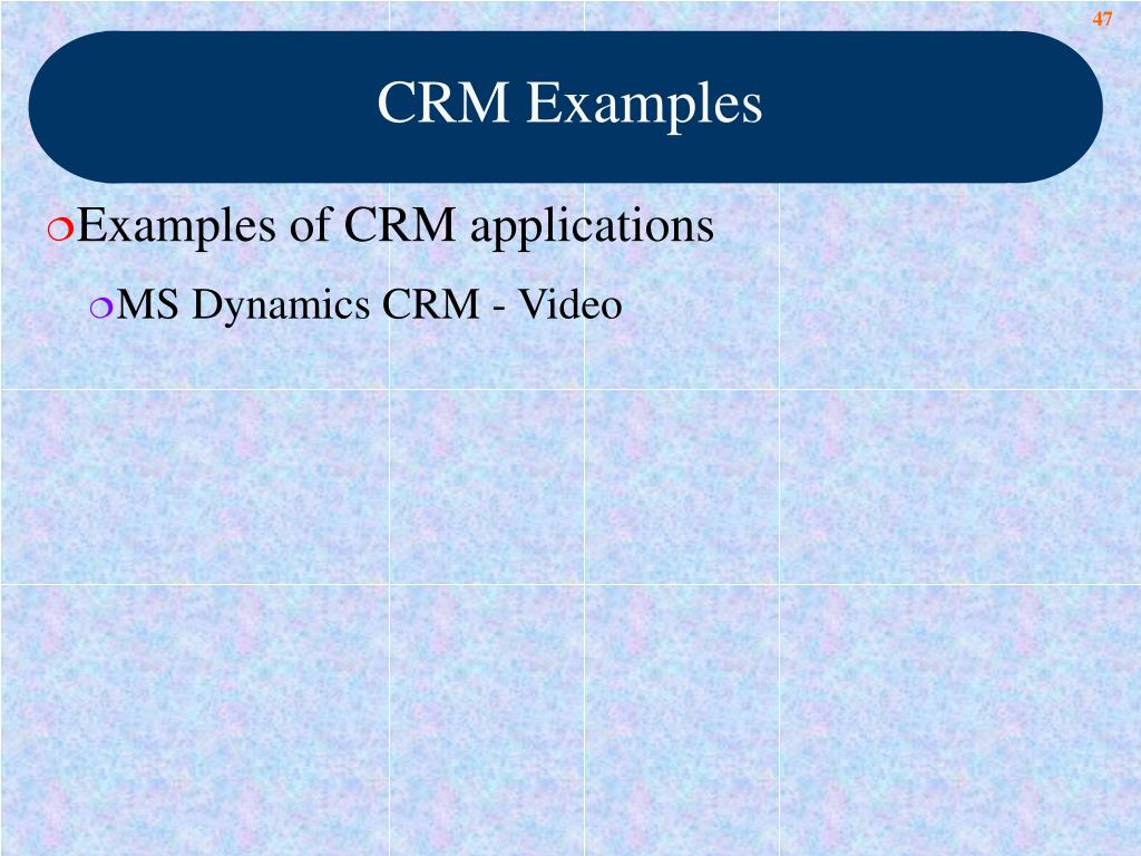 CRM Examples
