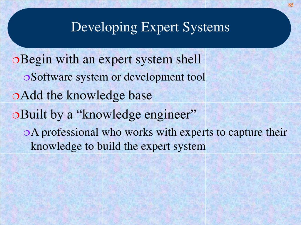 Developing Expert Systems