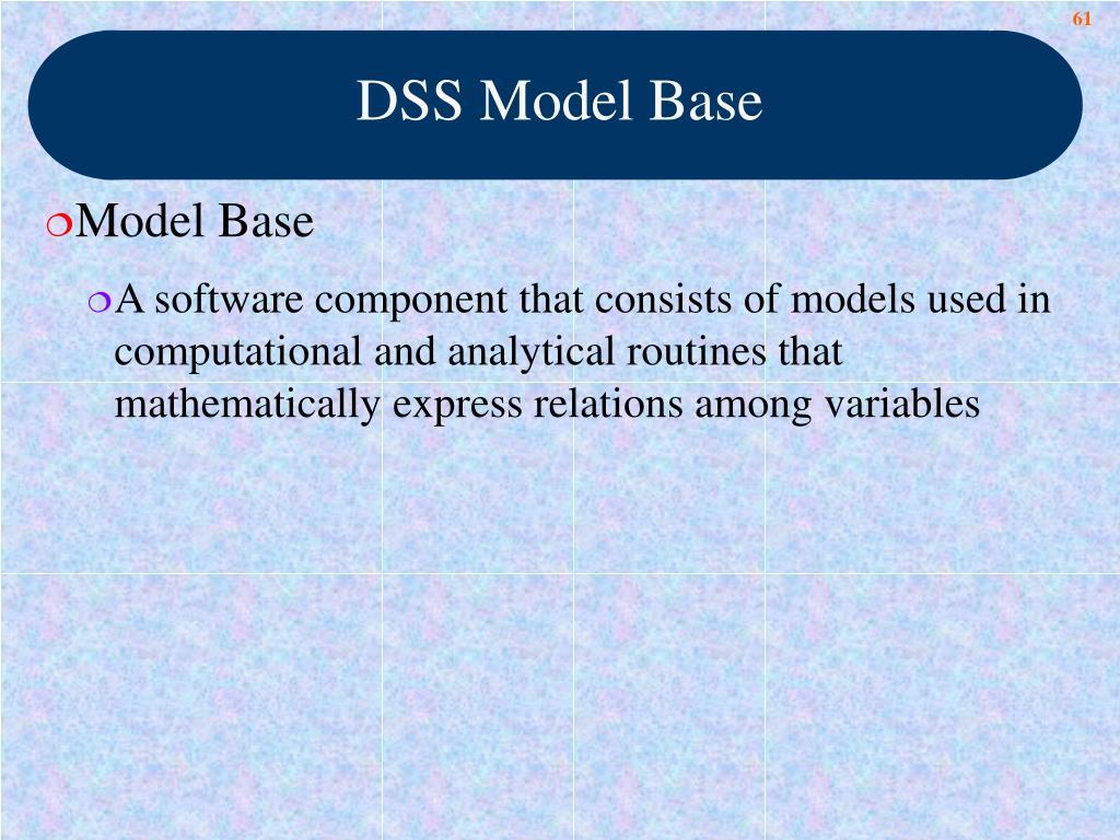 DSS Model Base