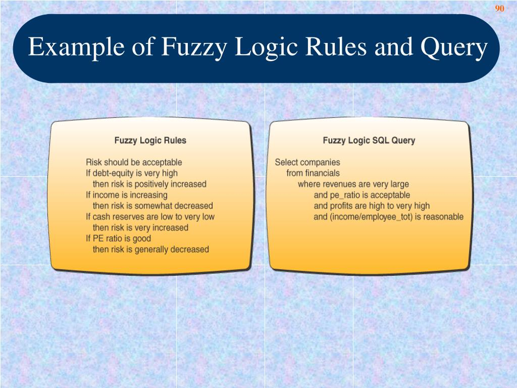 Example of Fuzzy Logic Rules and Query