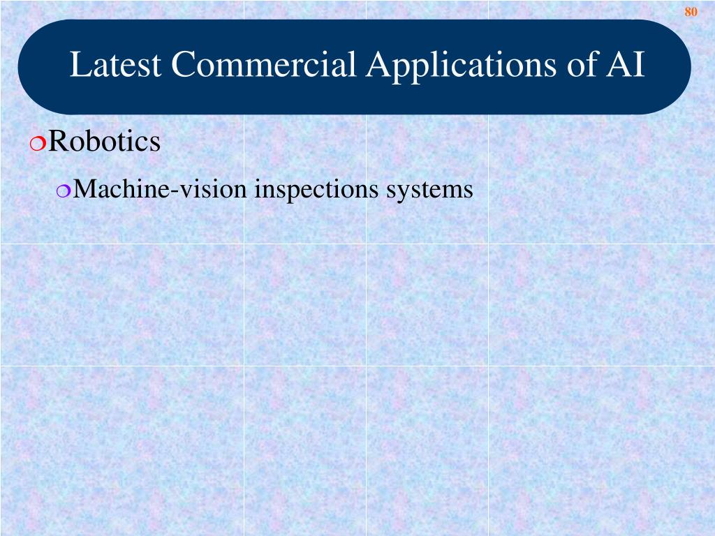 Latest Commercial Applications of AI