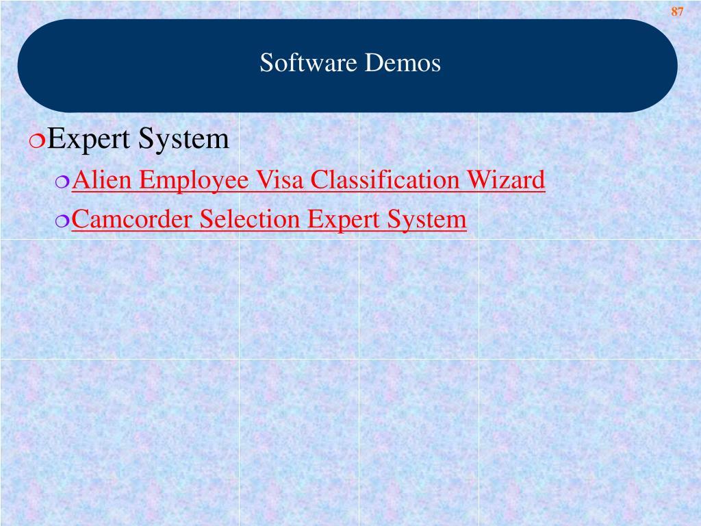 Software Demos