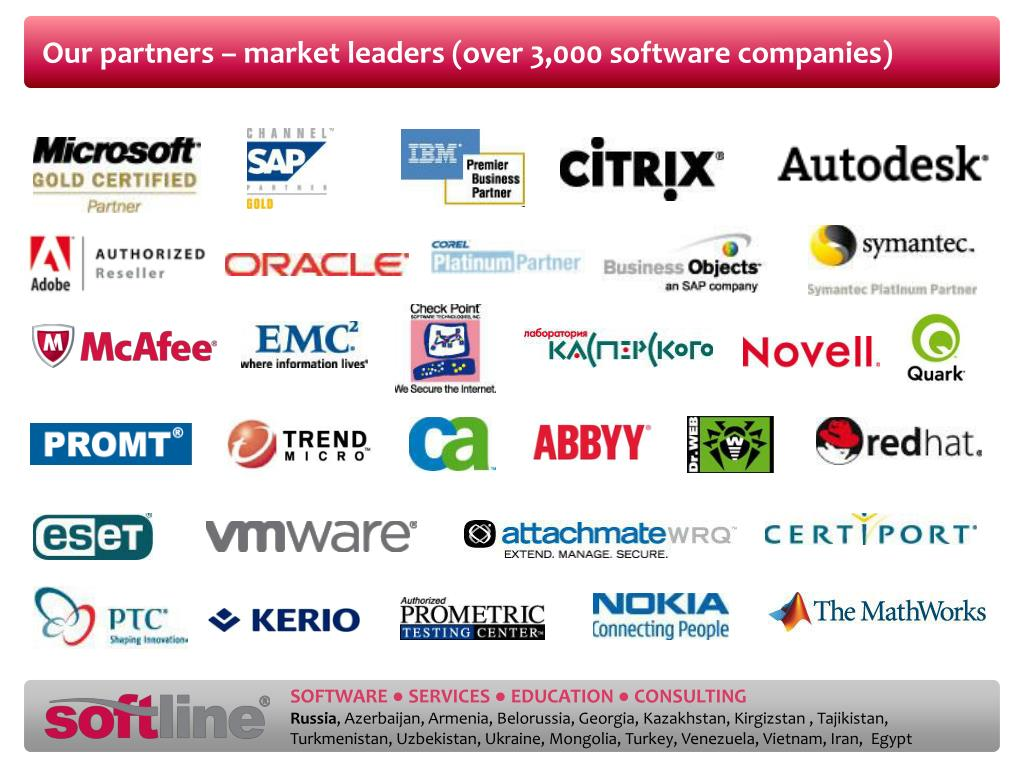 Our partners – market leaders (over 3,000 software companies