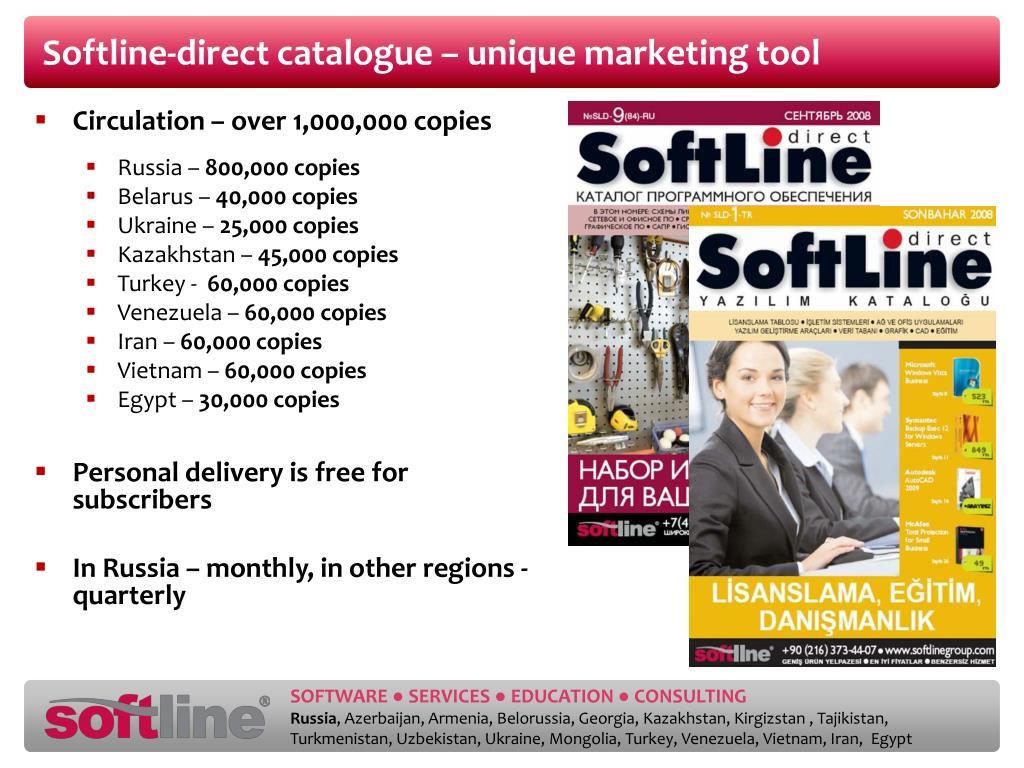 Softline-direct catalogue – unique marketing tool