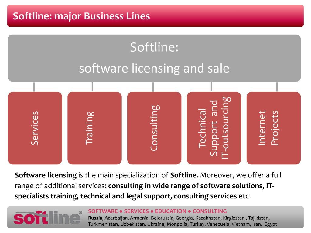 Softline: major Business Lines