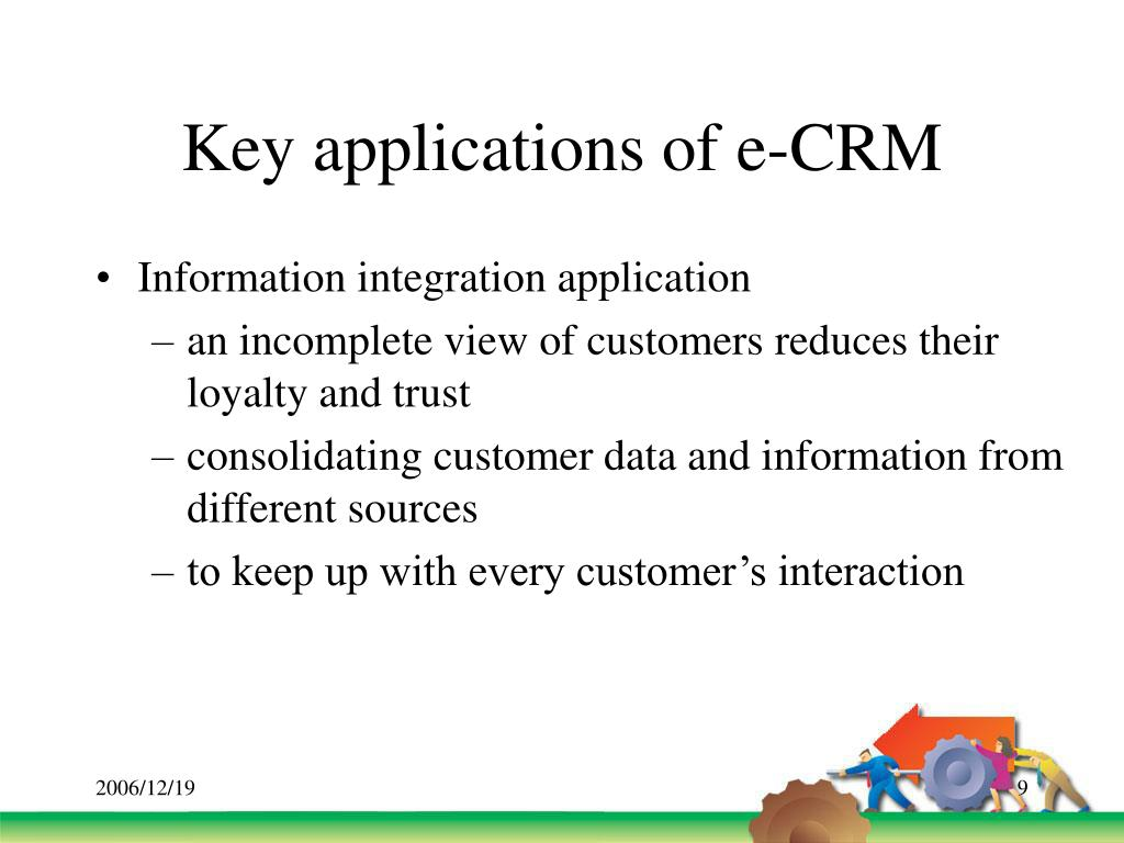 Key applications of e-CRM