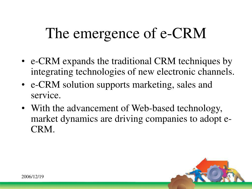 The emergence of e-CRM